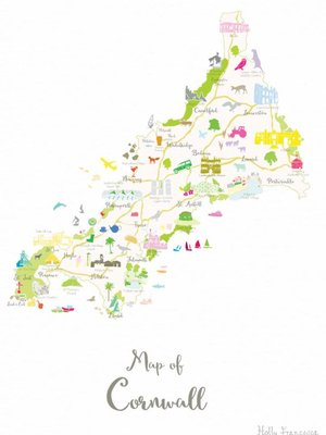 Holly Francesca Map of Cornwall A3
