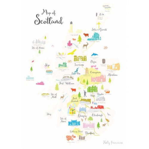 Holly Francesca Map of Scotland A3