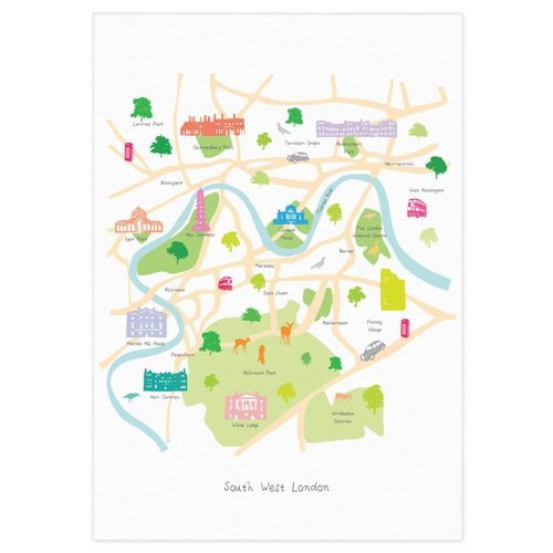 Holly Francesca Map of South West London A3