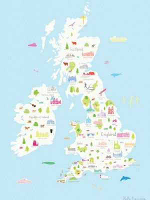 Holly Francesca Map of the UK A3