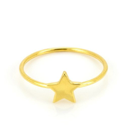 Laura Gravestock Dainty Star Stacking Ring - Gold Plated - J