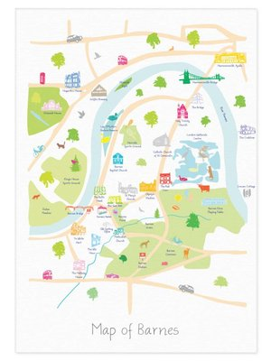 Holly Francesca Map of Barnes - A3