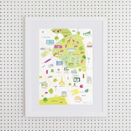 Holly Francesca Map of Regent's Park- A3
