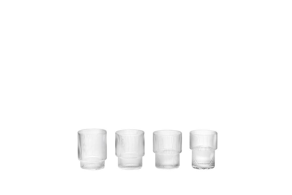 ferm LIVING Ferm Living Ripple Glass (Set of 4)