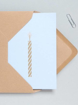 Ola Ola Foil Blocked Cards: Candle Blue/Brass