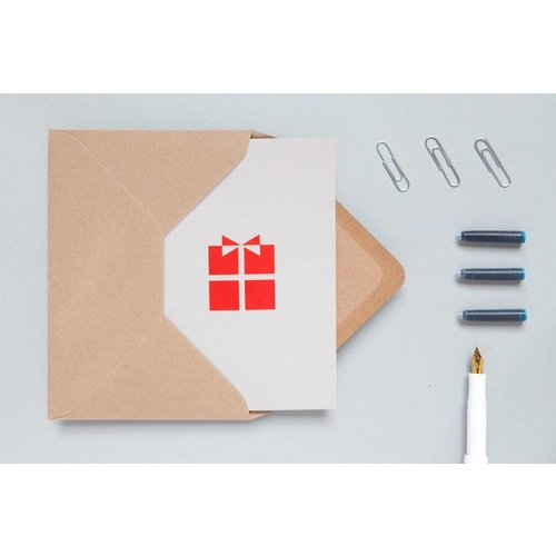 Ola Ola Foil Blocked Cards: Present Light Grey/Red