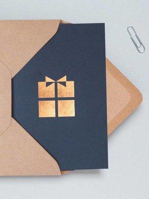 Ola Ola Foil Blocked Cards: Present Navy/RoseGold