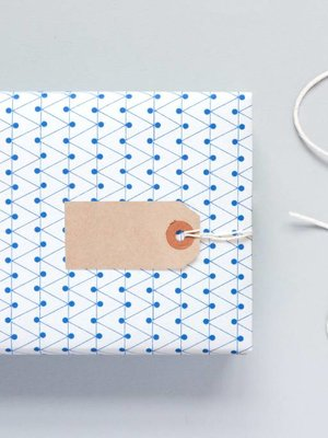Ola Ola Patterned Papers: Dash Print, Blue