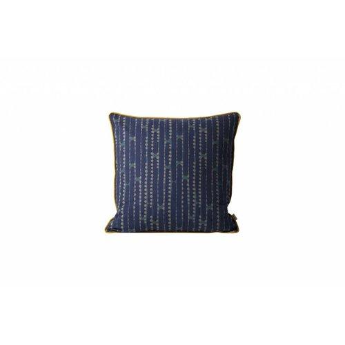 ferm LIVING Aligned Cushion - Blue