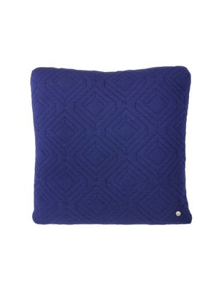 ferm LIVING Quilt Cushion - Dark Blue 45x45