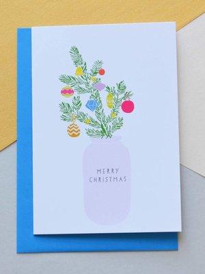 Holly Francesca Christmas Tree Card