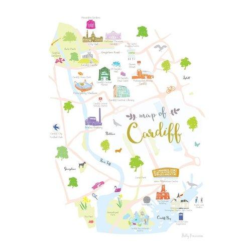 Holly Francesca Map of Cardiff A3