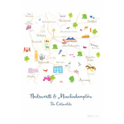 Holly Francesca Map of Nailsworth & Minchinhampton - A4