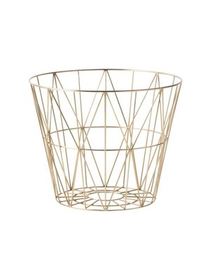 ferm LIVING Wire Basket Brass Large