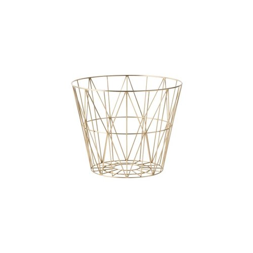 ferm LIVING Wire Basket Brass Small