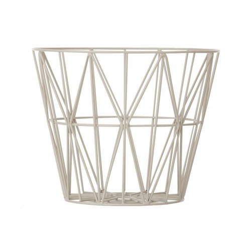 ferm LIVING Wire Basket Light Grey Small