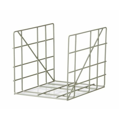 ferm LIVING Square Magazine Holder - Dusty Green