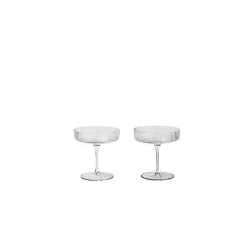 ferm LIVING Ripple Champagne Glasses (Set of 2)