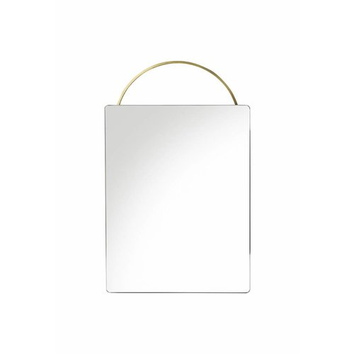 ferm LIVING Adorn Mirror - Brass - Face