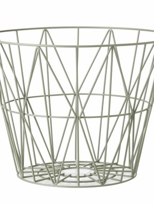 ferm LIVING Wire Basket Dusty Green Small