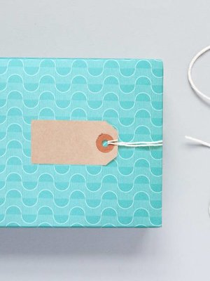 Ola Ola Patterned Papers: Wave Print Turquoise
