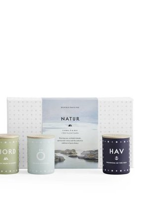 SKANDINAVISK NATURE Collection - Three Mini Candles
