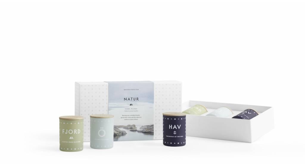SKANDINAVISK Skandinavisk NATURE Collection - Three Mini Candle Gift Set