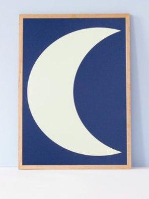 Ola OLA jr Glow in the Dark Moon A3 Print