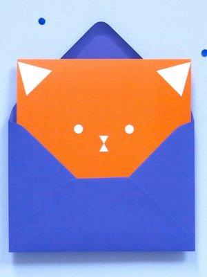 Ola OLA jr Cat Greeting Card