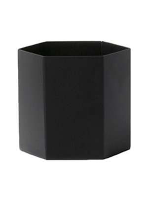 ferm LIVING Hexagon Pot - Black - Large