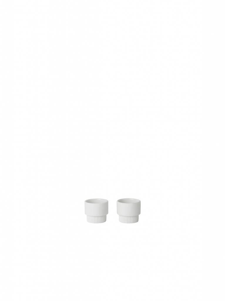 ferm LIVING Ferm Living Groove Egg Cups - White (set of 2)