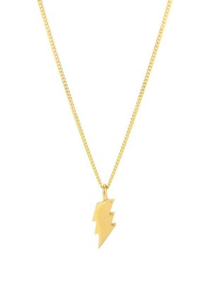 Laura Gravestock Dainty Lightning Necklace 18ct Gold Plated Silver