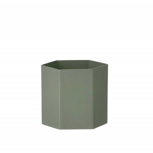 ferm LIVING Hexagon Pot - Dusty Green - Large