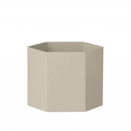 ferm LIVING Hexagon Pot - Grey - Extra Large