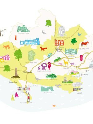 Holly Francesca Map of Dorset A3