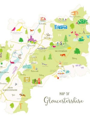 Holly Francesca Map of Gloucestershire A3