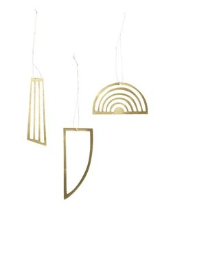ferm LIVING Golden Ornaments - Set of 3