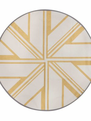 ferm LIVING Gold Star Round Floor Mat