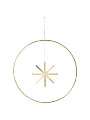 ferm LIVING Winterland Brass Star - Large