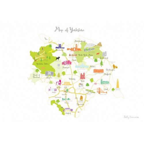 Holly Francesca Map of Yorkshire A3