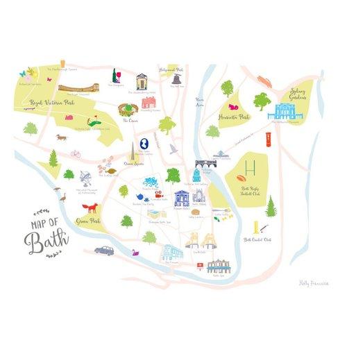 Holly Francesca Map of Bath - A3
