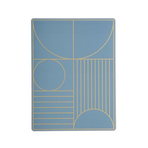 ferm LIVING Outline Dinner Mat - Dusty Blue
