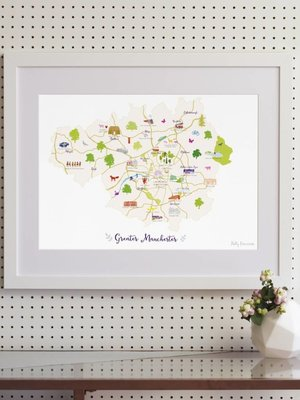 Holly Francesca Map of Greater Manchester - A3