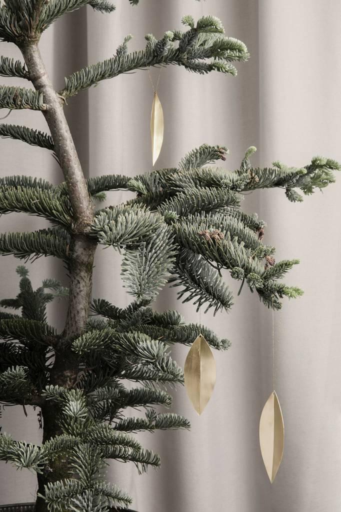 ferm LIVING Ferm Living Leaf Brass Ornaments (set of 4)