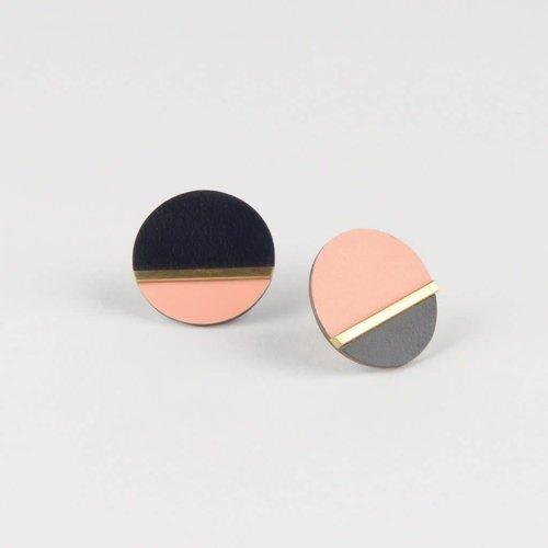 Tom Pigeon Form Disc Earrings