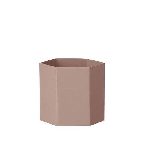 ferm LIVING Hexagon Pot - Rose - Large