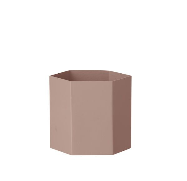 ferm LIVING Ferm Living Hexagon Pot - Rose - Large