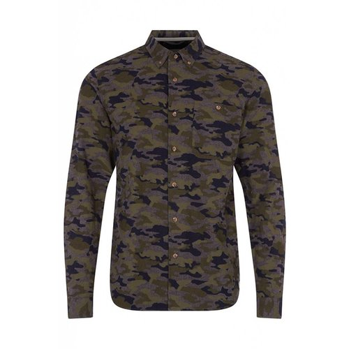 HYMN London 'UNIFORM' Camo Print Shirt - Small