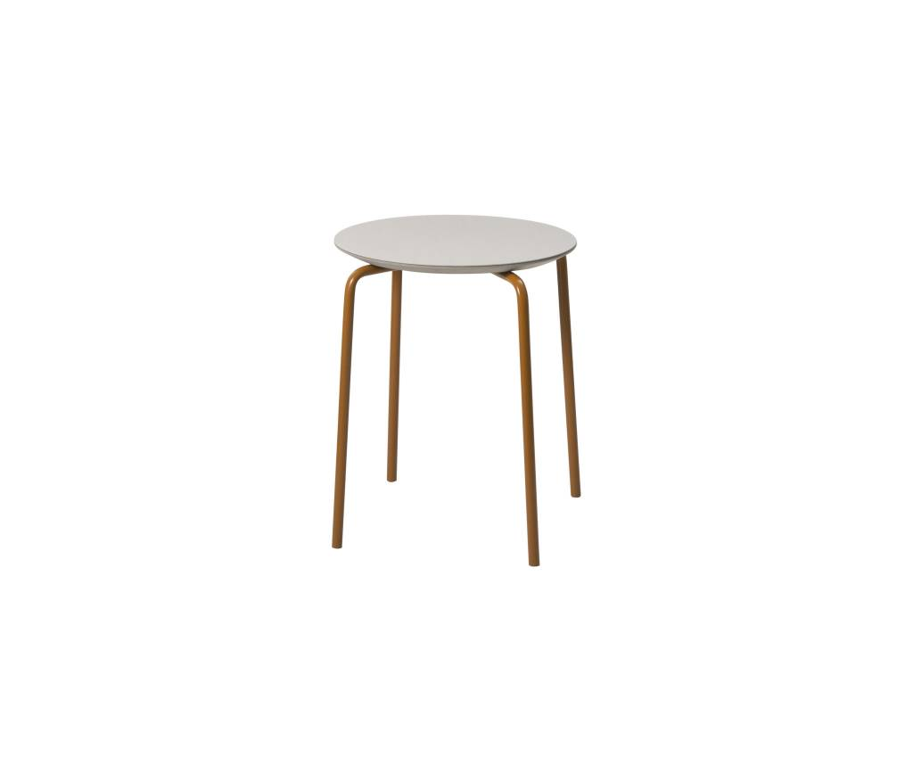 ferm LIVING Ferm Living Herman Stool Light Grey/Ochre