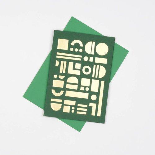 Tom Pigeon Artefact Cards Brass - Forest